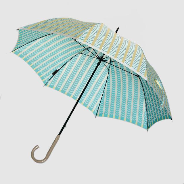 【晴雨兼用】 Stig L 【DRAPES】(ドレープ) イエロー×グリーン