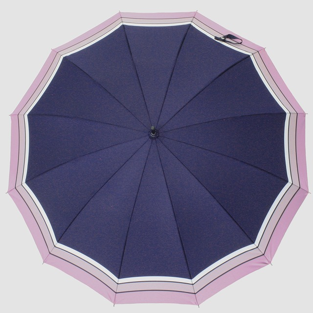 *NEW*【晴雨兼用】SCENE  ネイビー×パープルボーダー