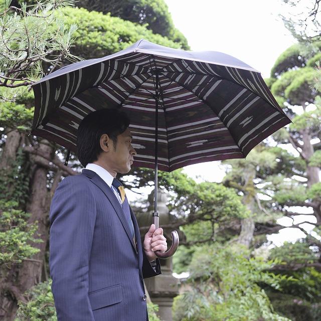 【紳士晴雨兼用】ネイティブほぐし 羽根:ブラック