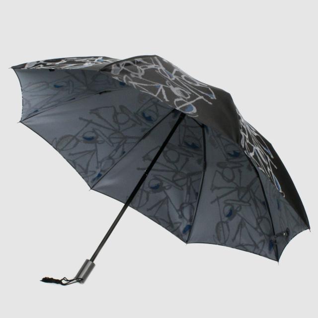 【晴雨兼用 折りたたみ傘】Aneqdot×槇田商店  ブラック