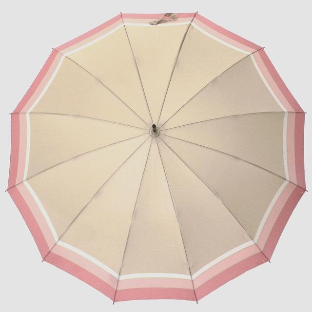 *NEW*【晴雨兼用】SCENE  ベージュ×ピンクボーダー
