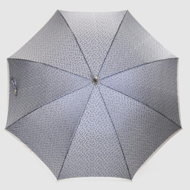 【晴雨兼用】小紋ジャカード 勝虫(トンボ) ブルー