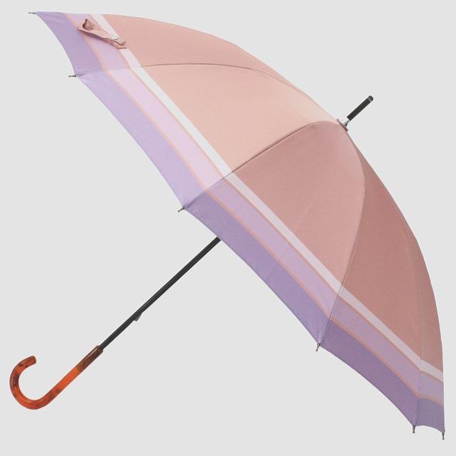 *NEW*【晴雨兼用】SCENE  ピンク×パープルボーダー