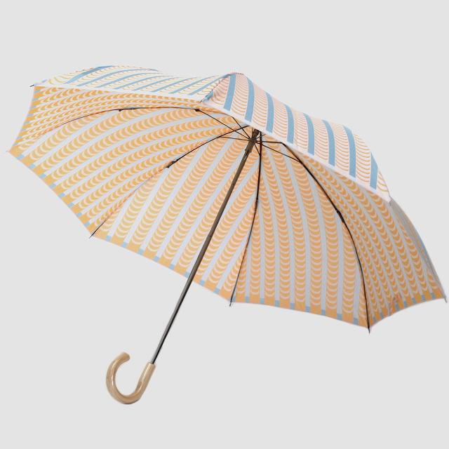 【晴雨兼用 折りたたみ傘】 Stig L  【DRAPES】(ドレープ) ブルー×オレンジ