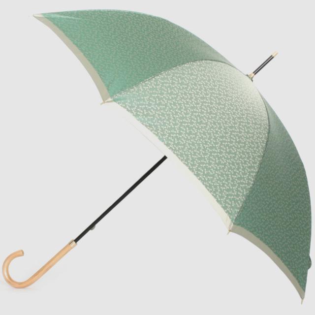 【晴雨兼用】小紋ジャカード 勝虫(トンボ) グリーン