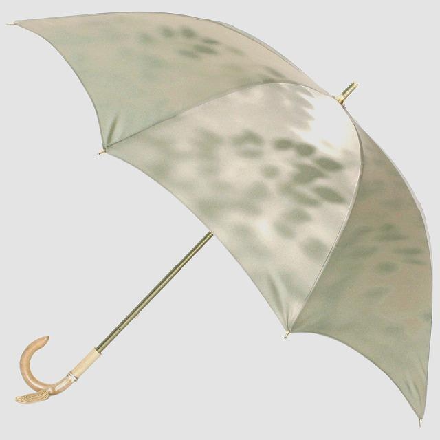 【晴雨兼用 ショート傘】こもれび ブナ グリーン