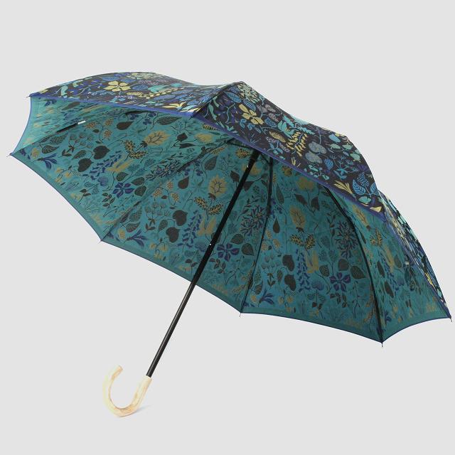 【晴雨兼用 折りたたみ傘】 Stig L 【HERBARIUM】(ハーバリウム) 青