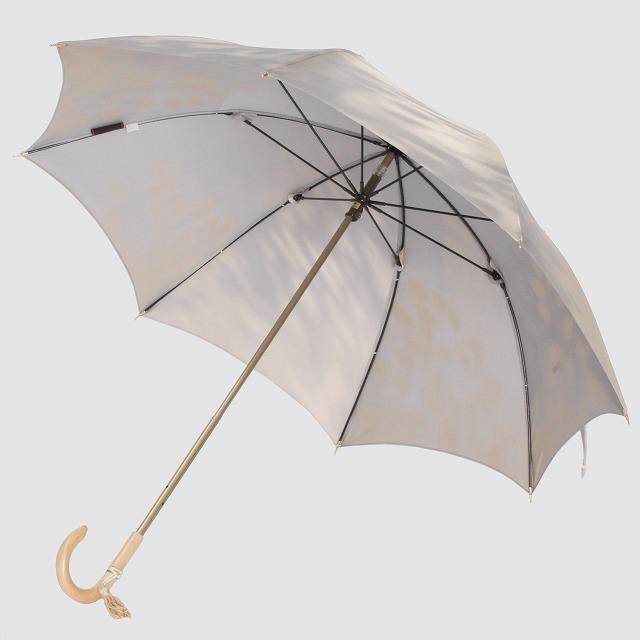【晴雨兼用 ショート傘】こもれび ブナ グレー