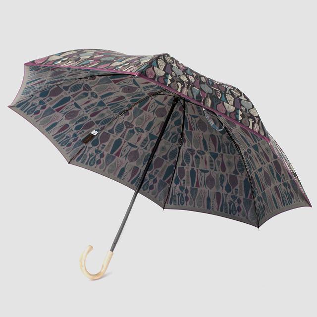 【晴雨兼用 折りたたみ傘】 Stig L 【POTTERY】(陶器) パープル×グリーン