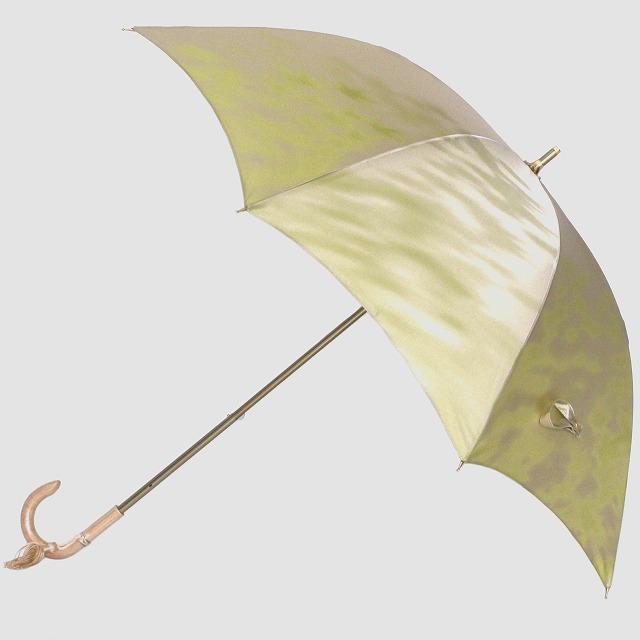 【晴雨兼用 ショート傘】こもれび カエデ ライトグリーン