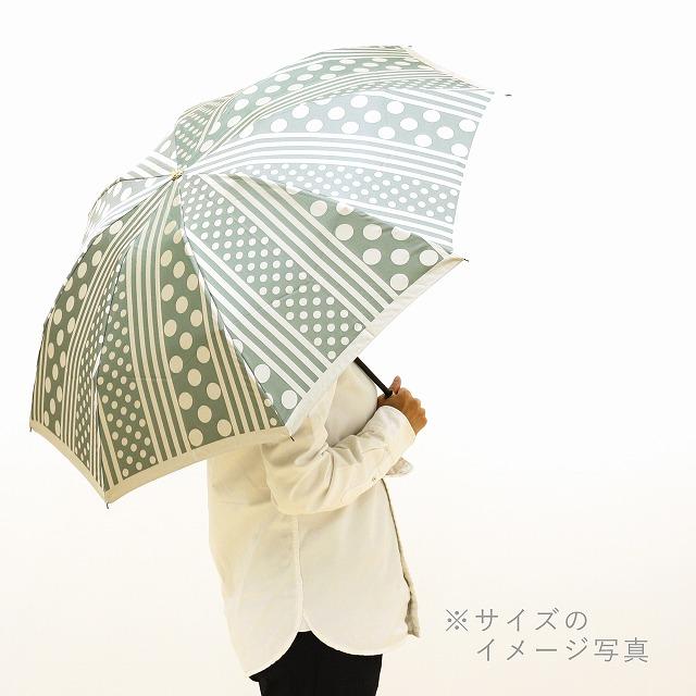 【晴雨兼用 折りたたみ傘】kirie  バラ(セイジグリーン)