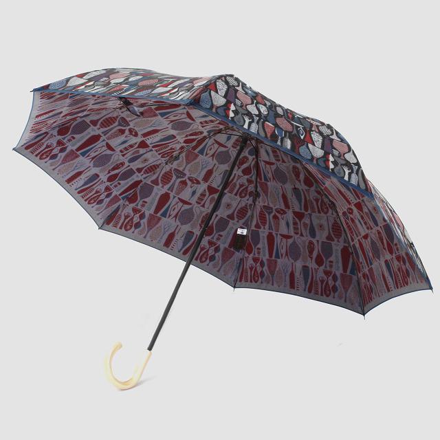 【晴雨兼用 折りたたみ傘】 Stig L 【POTTERY】(陶器) 赤×ブルー