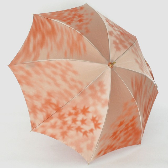 【晴雨兼用 ショート傘】こもれび カエデ オレンジ