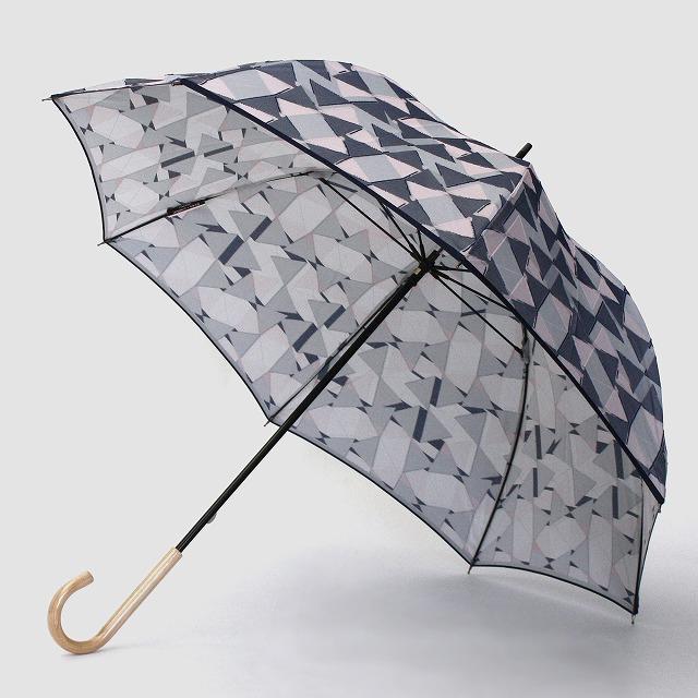 【雨傘】fusion RIBBON グレー