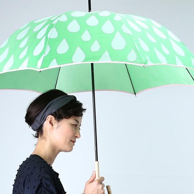 【雨傘】fusion SHIZUKU グリーン×白