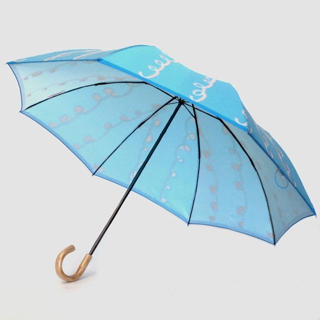 【雨傘 折りたたみ傘】fusion GURUGURU 水色×ピンク