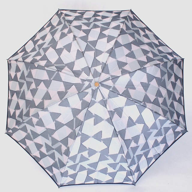 【雨傘 折りたたみ傘】fusion RIBBON グレー