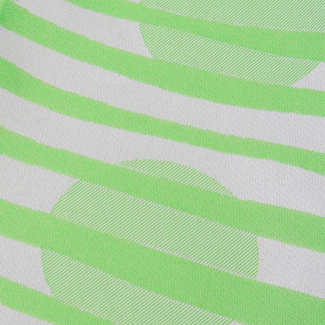 【防水・撥水エコバッグ】Umbrella cloth bag ドットボーダー グリーン