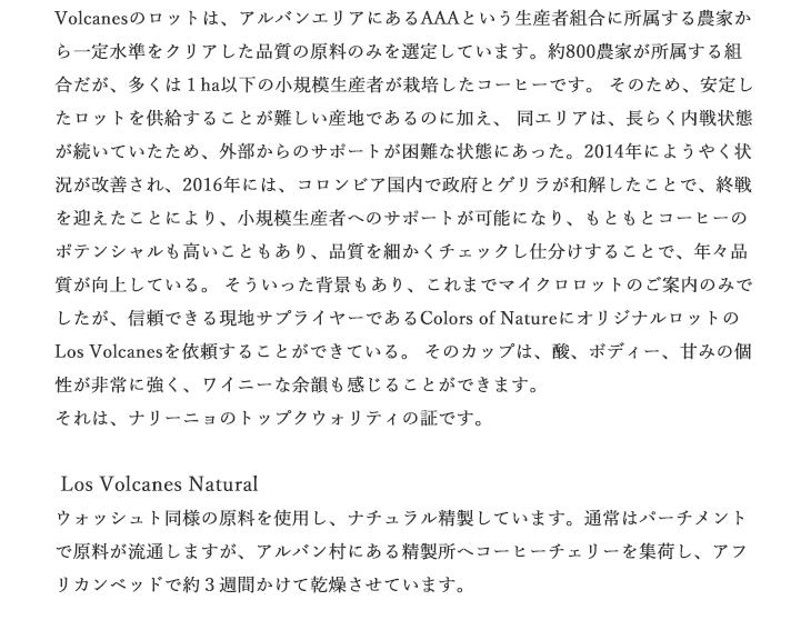 【送料無料】焙煎工房本池 コロンビア ロス・ヴォルカネス ウォッシュト(中煎り)500g