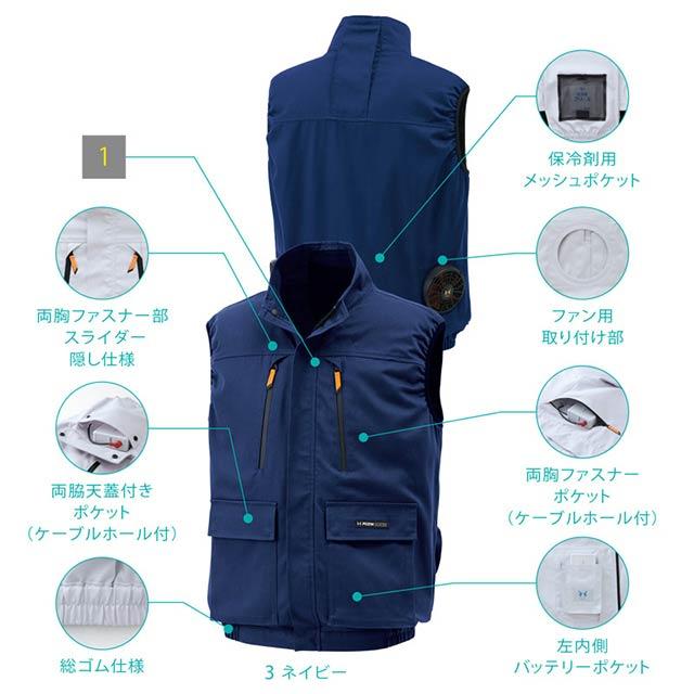 【KU92192-LBS21 セット】_ベスト+ファン+バッテリー2021set_(空調風神服)