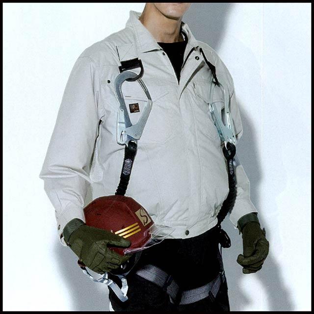 【KU91400G-LBS21 セット】_フルハーネス用長袖ブルゾン+ファン+大型バッテリー2021set_( 空調風神服 )