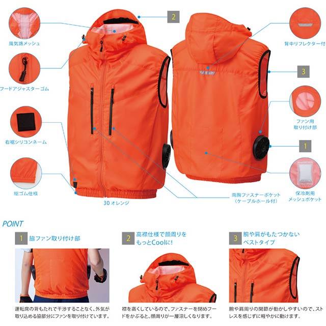 【KU92112-LBS21 セット】_ベスト+ファン+バッテリー2021set_(空調風神服)