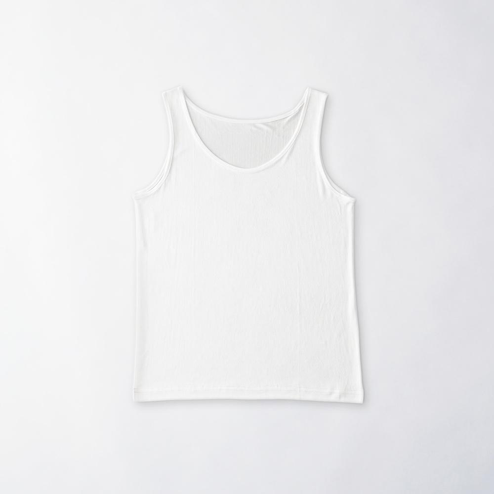 正絹シルク100% タンクトップ (天竺編み)[メール便可]