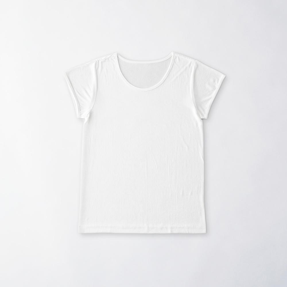 正絹シルク100%インナー フレンチ袖(天竺編み)[メール便可)