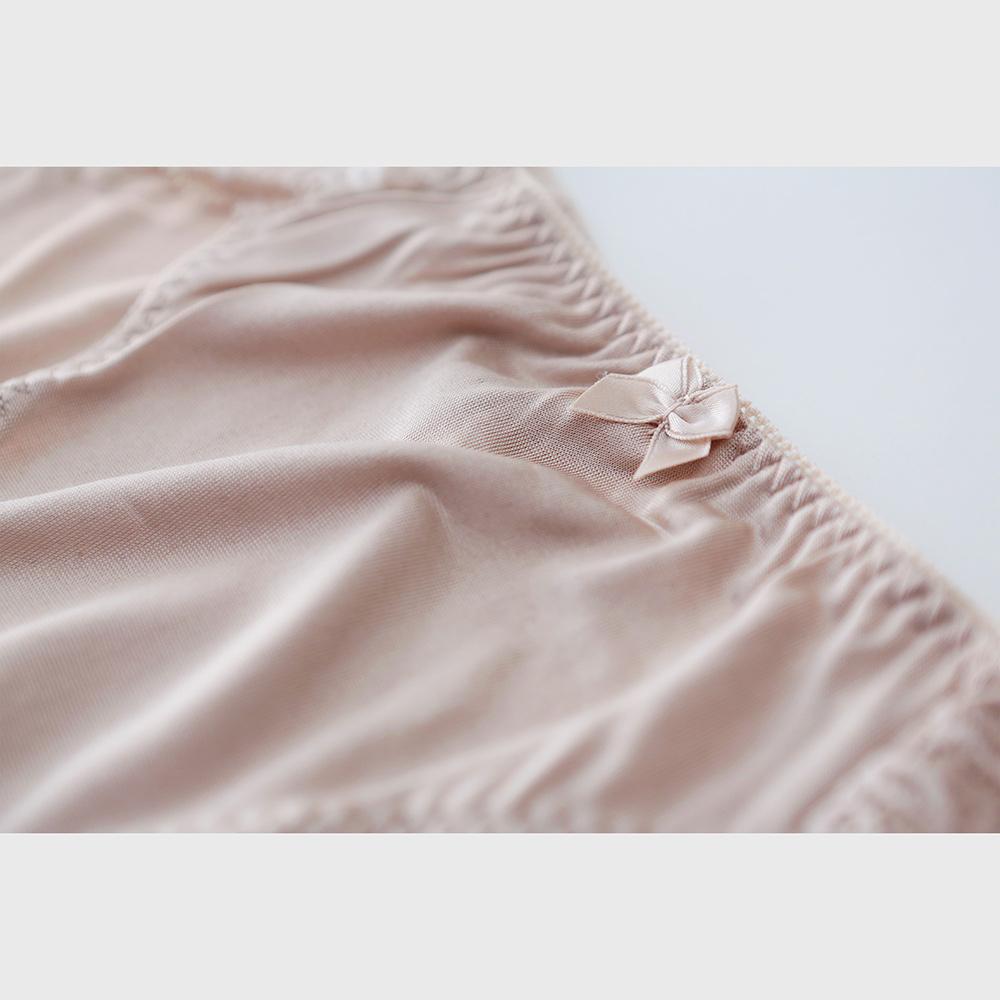正絹シルク100% バックレースショーツ(天竺編み)[メール便可]
