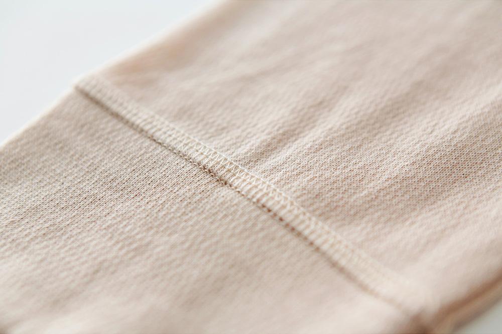肌側シルク100%インナー エアリーロングボトム (内絹外ウール) [メール便可]