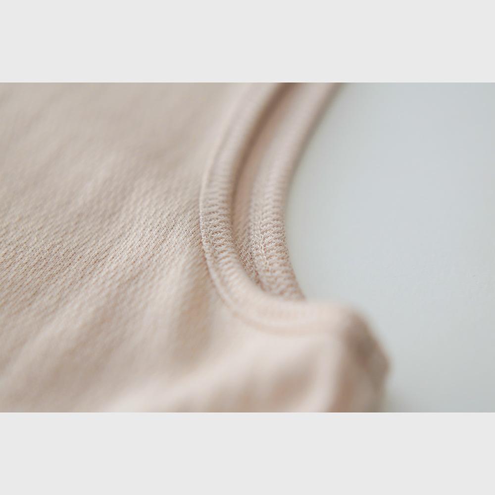 肌側シルク100%インナー エアリータンクトップ (内絹外ウール) [メール便可]