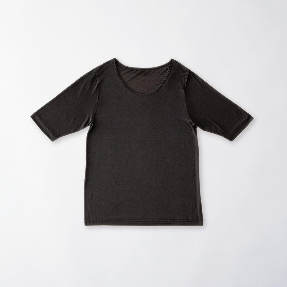 正絹シルク100% 半袖インナー(天竺編み)[メール便可]