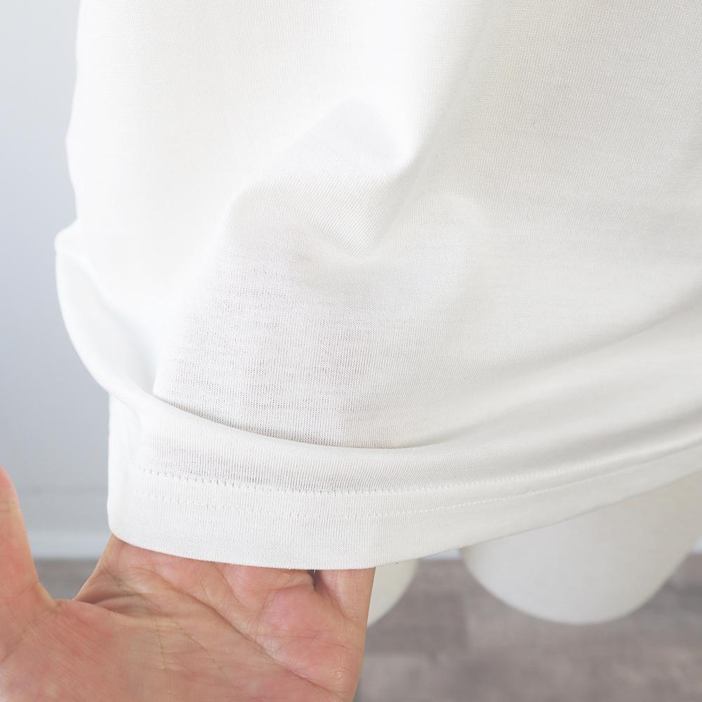 シルクコットン半袖Tシャツ[メール便可]