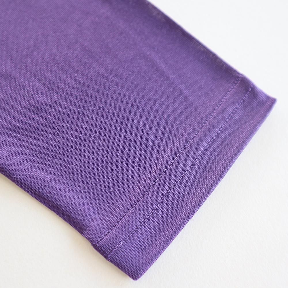 正絹シルク100% 長袖Tシャツ (天竺編み) [メール便可]