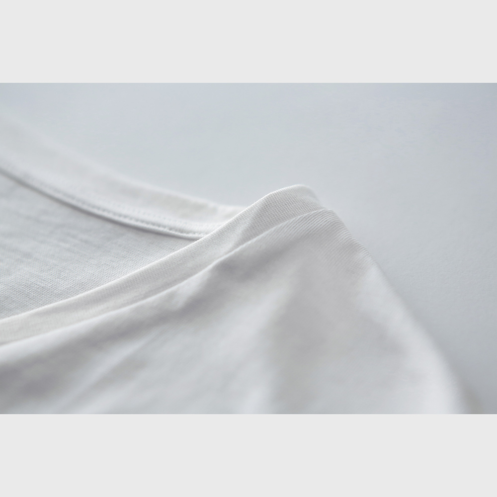 シルクコットン 男の絹 Vネック 半袖Tシャツ[メール便可]
