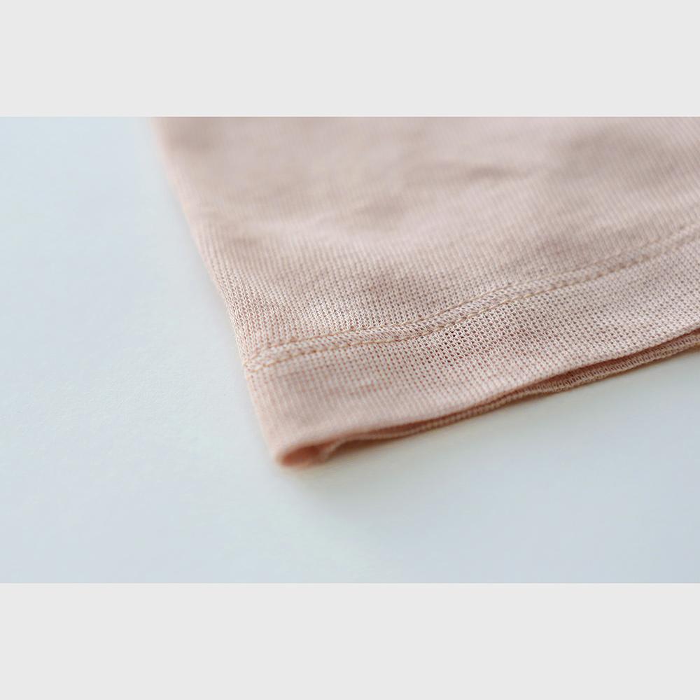 肌側シルク100%インナー エアリーロングボトム (内絹外綿) [メール便可]