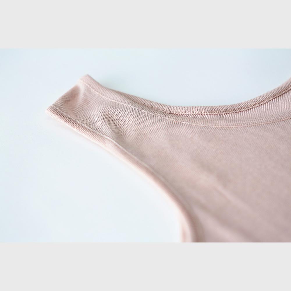 肌側シルク100%インナー エアリータンクトップ (内絹外綿) [メール便可]