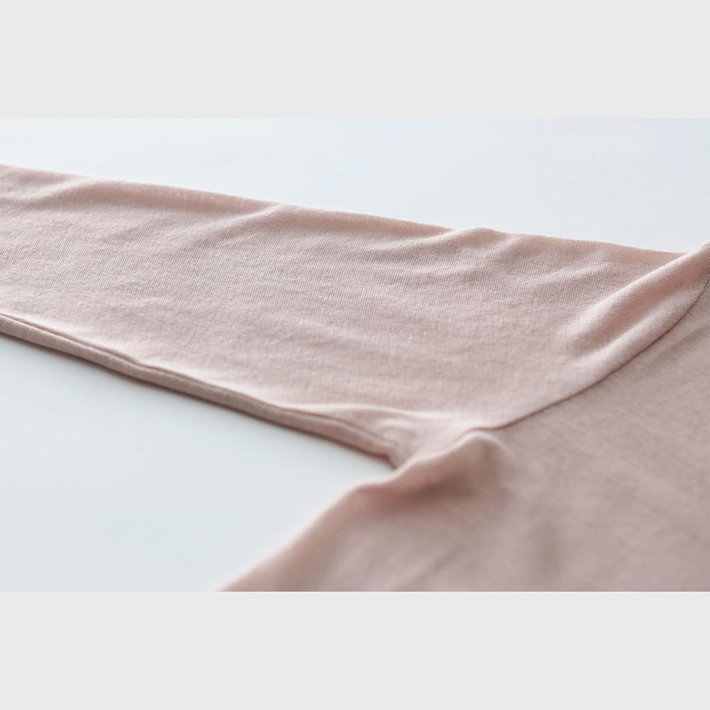 肌側シルク100% エアリー8分袖インナー (内絹外綿) [メール便可]