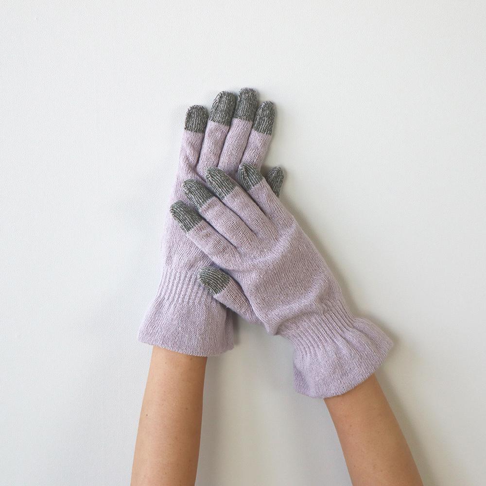 エコなシルクのおやすみ手袋(スマホ対応)【メール便可】