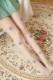 【即日発送】デザインストッキングベージュ/紫花飾り付き/デザインタイツ《ハロウィンストッキングレディース》【Malymoon/マリームーン】【st621】