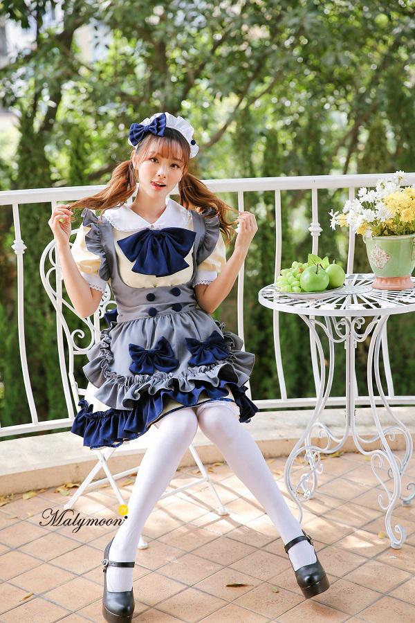 完全受注オーダー高級メイド服《かわいいコスプレ3点セット》【Malymoon/マリームーン】【8147】