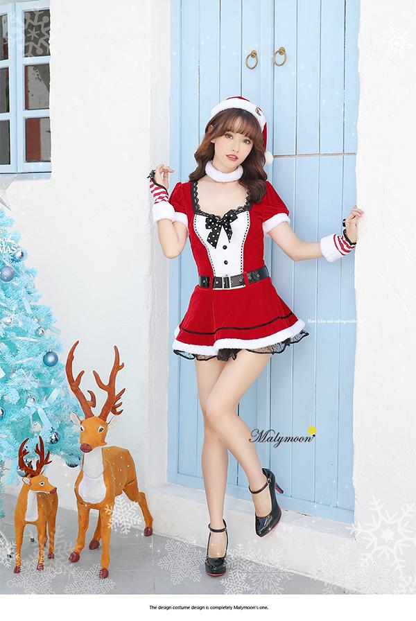【即日発送】クラシカルサンタクロース《クリスマスコスプレ5点セット》Malymoon/マリームーン【7576-2】