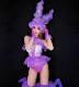 ダンス衣装 セクシー ダンス 衣装 ダンスウェア ダンスウエア 舞台衣装 紫 パープル フリル かわいい【dance-8415】