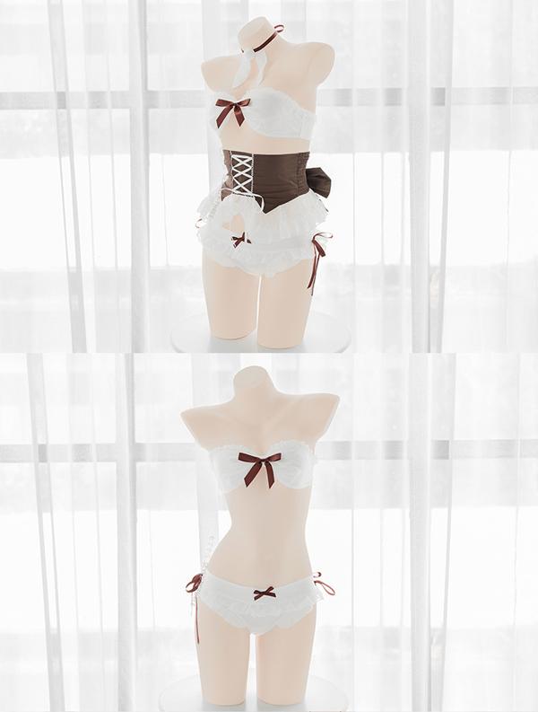 洋風レトロコスランジェリー《かわいいコスプレ4点セット》【SEVENTY-THREE】【k0621】