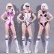 ダンス衣装 セクシー ダンス 衣装 ダンスウェア ダンスウエア 舞台衣装 ピンク パープル ボディスーツ【dance-8230】