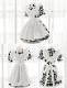 ギンガムチェックメイド服《かわいいコスプレ2点セット》【SEVENTY-THREE】【k0622】