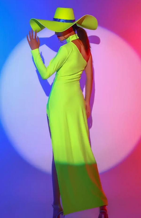 ネオンカラーロングワンピース帽子セット《ダンスウェア/ダンス衣装》【Malymoon/マリームーン】【dance-83990-2】
