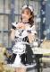 【即日発送】レースアップブラックメイド服《ハロウィンコスプレ6点セット》【Malymoon/マリームーン】【s7893】