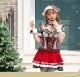 【即日発送】ドットチェックサンタクロース《クリスマスコスプレ5点セット》【Malymoon/マリームーン】【9525】