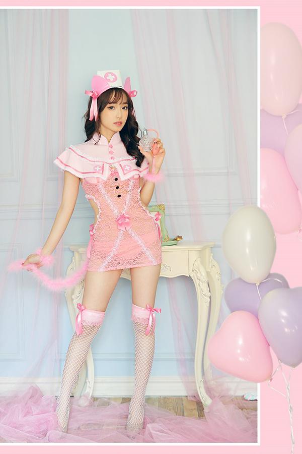 【予約-6月上旬より順次発送】セクシー猫ナース《ハロウィンコスプレ7点セット》【Dreamy Doll/ドリーミードール】【S5351】